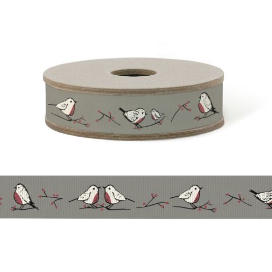Robins & Rosehips 3m Christmas Ribbon