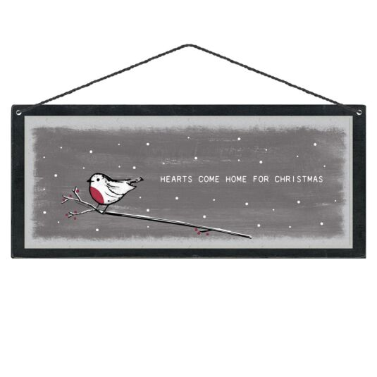 'Hearts Come Home for Christmas' Christmas Sign