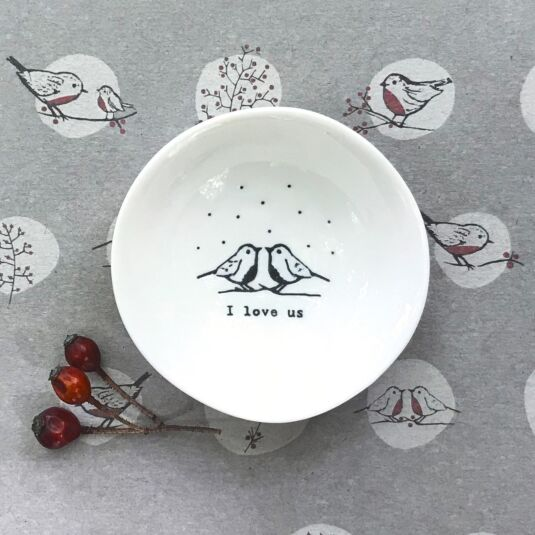 'I Love Us' Small Wobbly Bowl