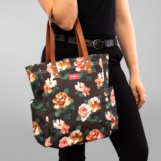 Chiswick Rose Large Matte Canvas Tote Bag