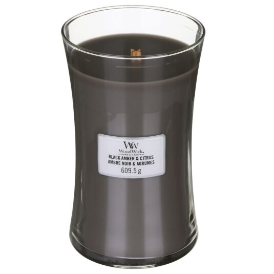 Black Amber & Citrus Large Hourglass Candle