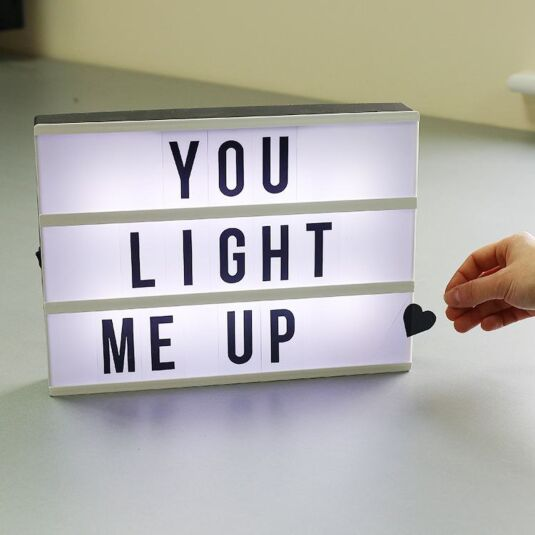 Light Up Message Box