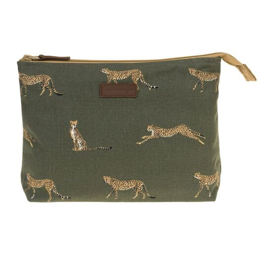 ZSL Cheetah Canvas Large Wash Bag