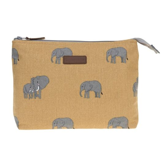ZSL Elephant Canvas Large Wash Bag