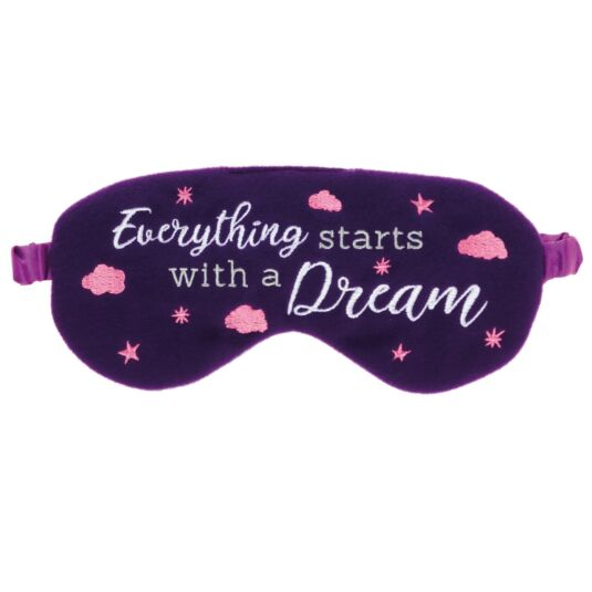 'Everything Starts with A Dream' Felt Eye Mask