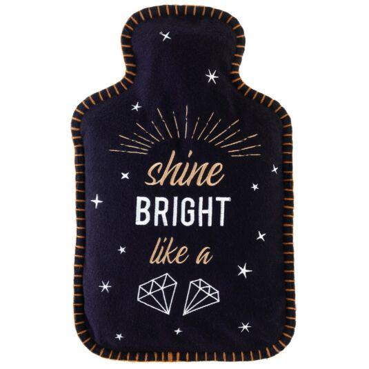 'Shine Bright Like A Diamond' Felt Hot Water Bottle