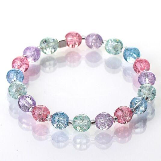 Pastel Crackle Globes Bracelet