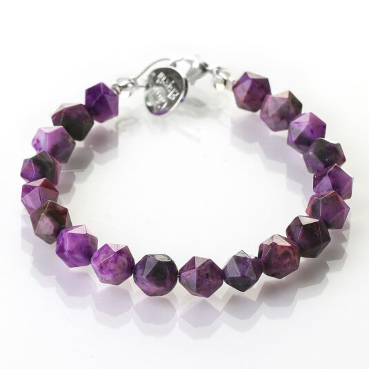 Violet Faceted Agate Bracelet