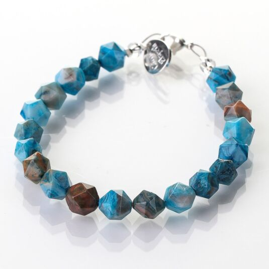 Azure Faceted Agate Bracelet