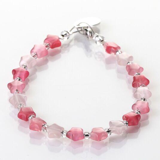 Pink Cats Eye Stars Bracelet