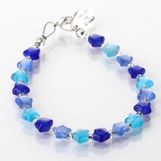 Blue Cats Eye Stars Bracelet