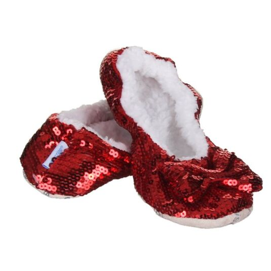 Ballerina Bling Adult Red Snoozies