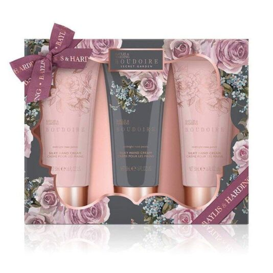 Boudoire Midnight Rose Petals Set of Three Hand Creams
