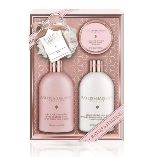 Jojoba, Silk and Almond Oil Benefit Set