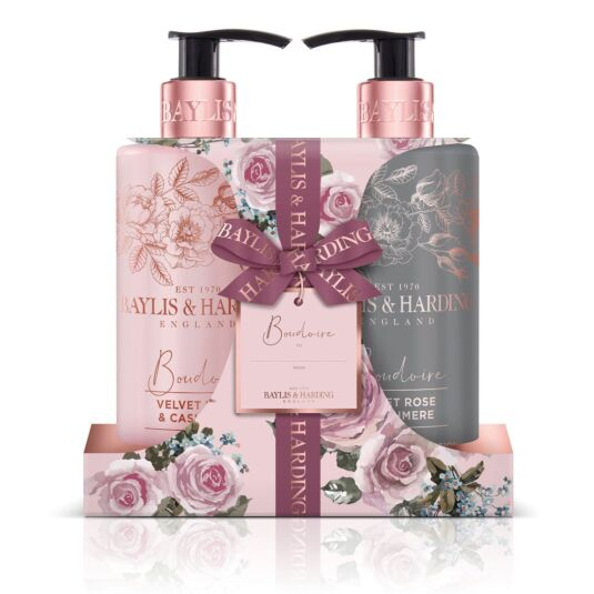 Boudoire Velvet Rose & Cashmere Hand Wash & Lotion Set