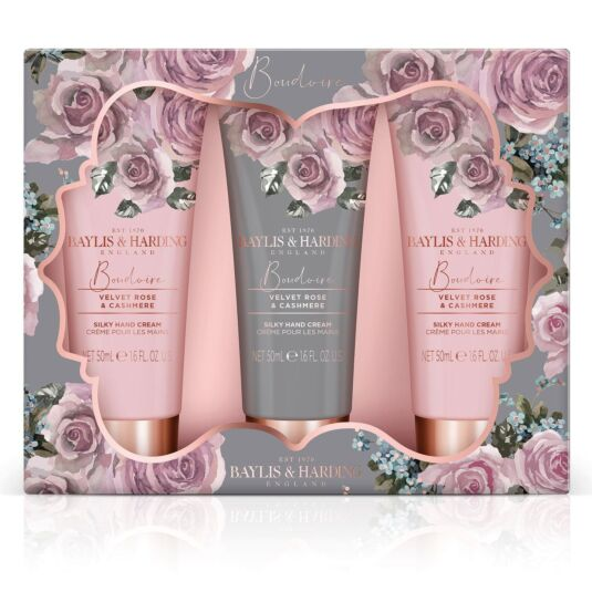 Boudoire Velvet Rose & Cashmere Trio of Hand Cream Set