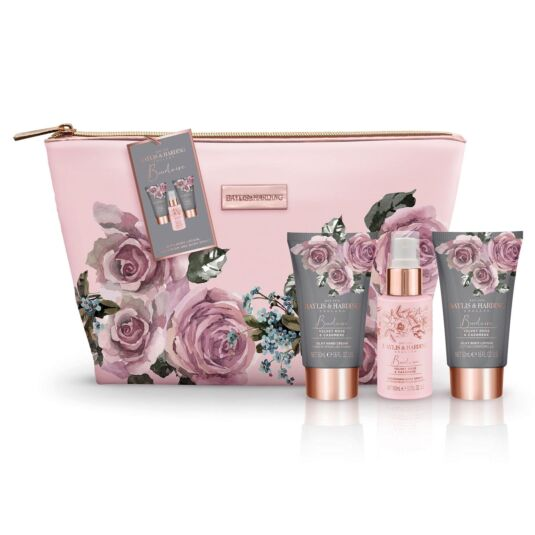 Boudoire Velvet Rose & Cashmere Washbag Gift Set