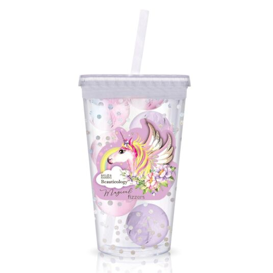 Unicorn Bath Fizzers & Travel Cup Set