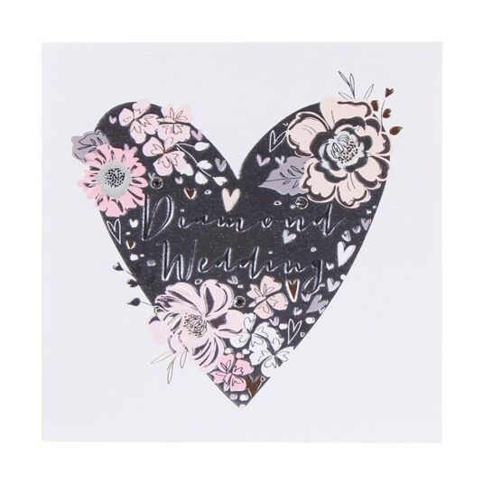 Paloma Diamond Wedding Anniversary Heart Card