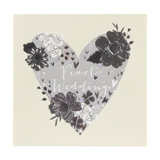 Paloma Pearl Wedding Anniversary Heart Card
