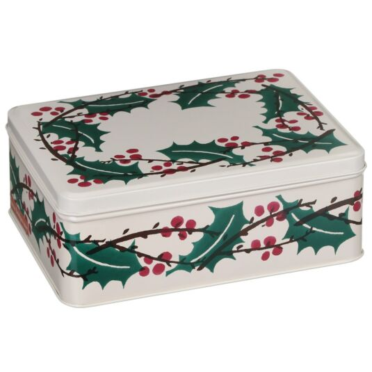 Winter Berries Deep Rectangular Tin