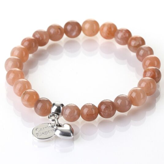 Sunstone Gemstone Heart Bracelet