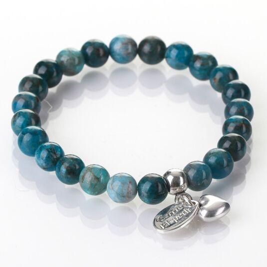 Apatite Gemstone Heart Bracelet