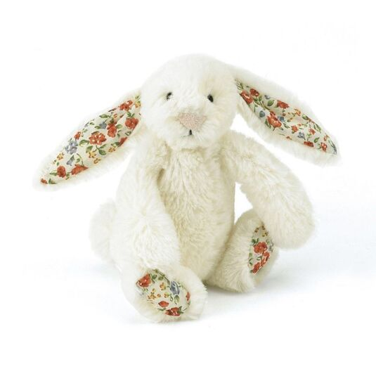 Tiny Blossom Cream Bunny