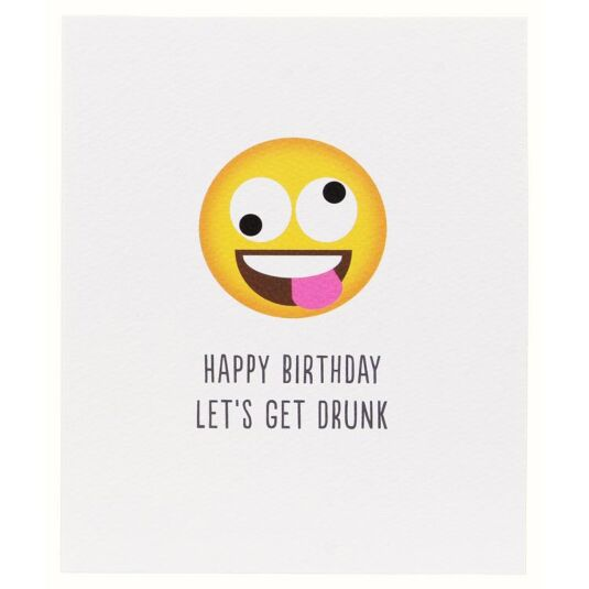 Happy Birthday Let's Get Drunk Character Icon Card