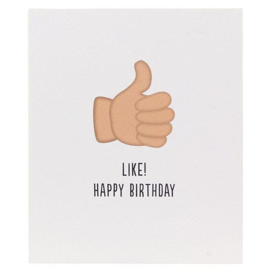 Thumbs Up Happy Birthday Character Icon Card
