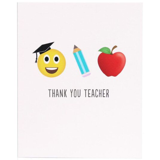 Thank You Teacher Character Icon Card