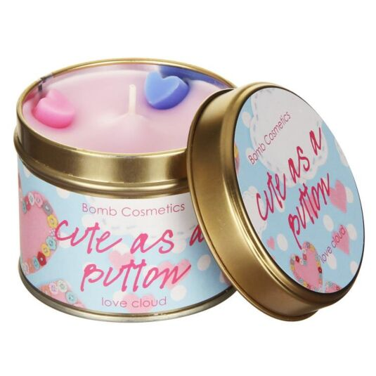 Cute As A Button Candle