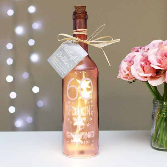 60 Pink Light Up LED Bottle