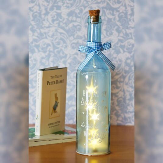 Brand New Baby Boy Blue Light Up LED Bottle