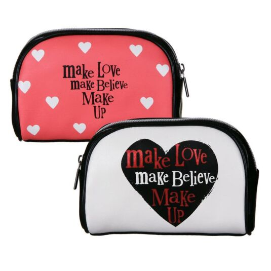 Make Love, Make Believe, Make Up Cosmetic Bag