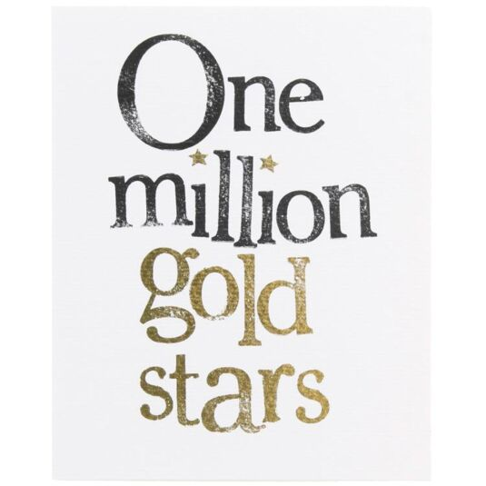 One Million Gold Stars Card