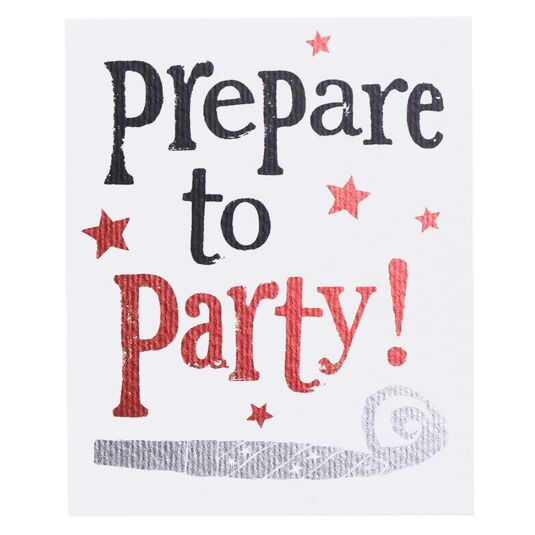 Prepare To Party! Set of 8 Cards