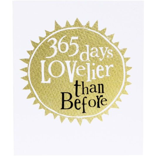 365 Days Lovelier Birthday Card