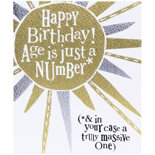 Age Is Just A Number Birthday Card