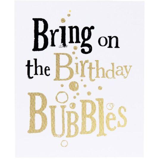 Birthday Bubbles Birthday Card