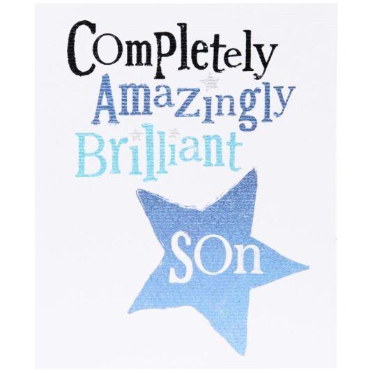 Amazingly, Brilliant Son Christmas Card