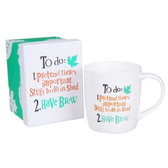 Pretend There's Important Stuff In Shed Boxed Mug