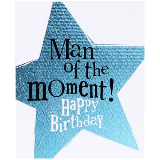 the bright side man of the moment birthday card temptation gifts