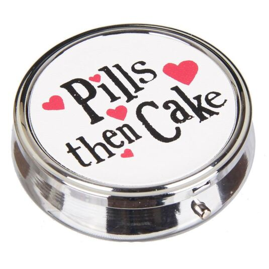 Pills Then Cake Pill Box