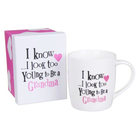 the bright side too young to be a grandma boxed mug temptation gifts