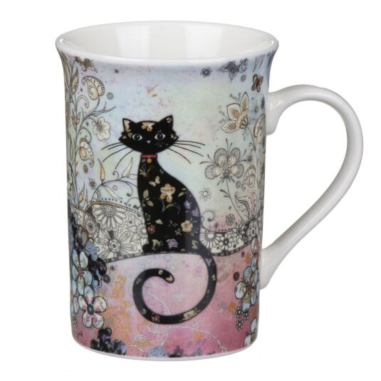 Bug Art Cat Fine China Mug