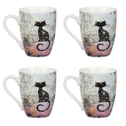 Bug Art Set of 4 Boxed Mugs