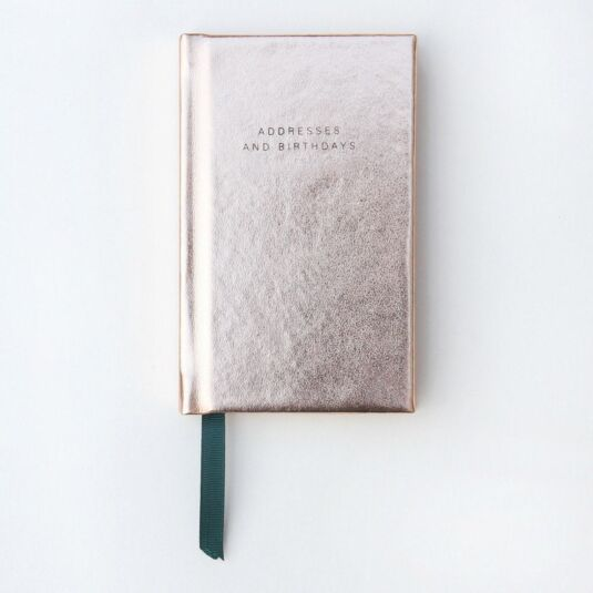 Mini Rose Gold Address and Birthday Book