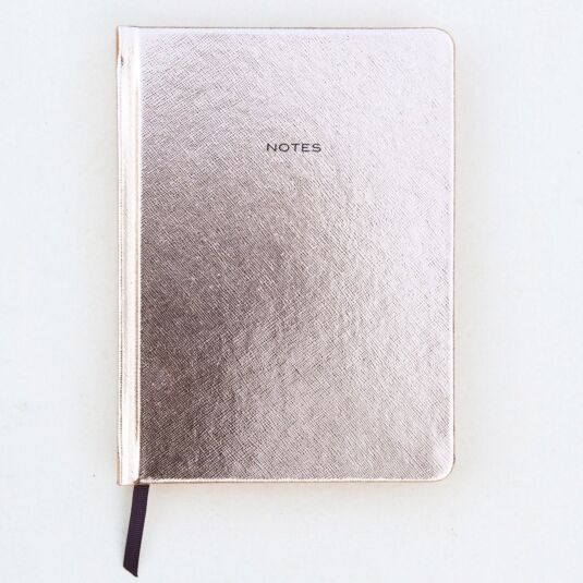 Rose Gold Metallic Hardback Notebook