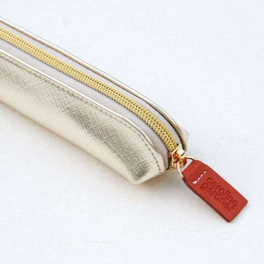 Gold Metallic Essential Pencil Case
